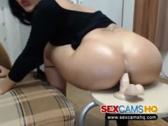 Hot Arab Girl Enjoys Anal Dildo Fucking On Cam