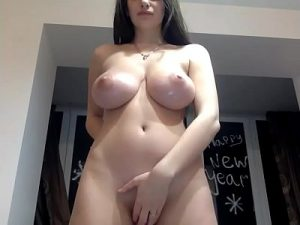 Gorgeous Slut With Massive Breasts Masturbates On Cam