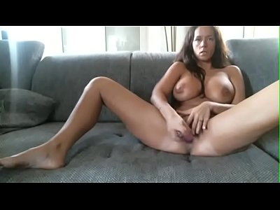 Very Busty Milf Pleasures Her Pussy On Cam