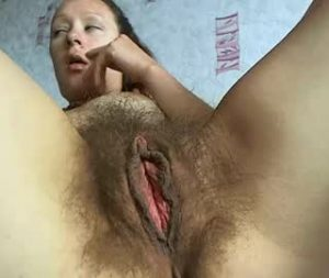 British Lady Aelita Shows Off Her Very Hairy Pussy On Cam