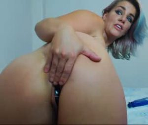 Busty Cam Slut Plays With Her Holes On The Show
