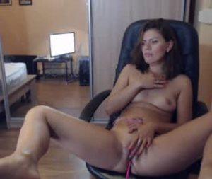 Petite Milf Masturbates On Porn Cam