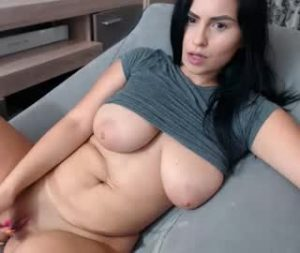 Hot Cam Girl Cristina Shows Off Her Big Natural Breasts