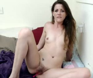 Small Tittied Cam Lady Makayla Bares Her Hairy Cunt