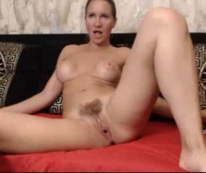 Super Raunchy Russian Milf Katness Naked On The Bed During Cam Session
