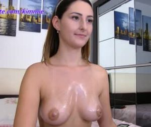 College Girl Kimmie Flashes Her Rack On Cam