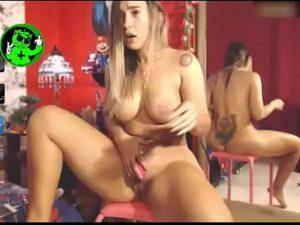 Curvy Latina Babe Rides Her Dildo On Live Cam Show