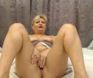 Mature Blonde Woman Katharina Pleasures Herself