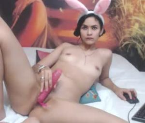 Skinny 18yo Lady Bella Naked And Teases On Cam Show