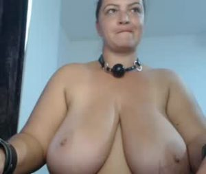 Euro Milf Danny Flaunts Her Huge Natural Breasts On Webcam