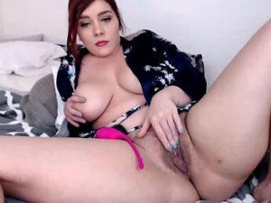 Horny BBW Lady Goes Nude And Masturbates On Webcam