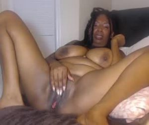 Horny Black Milf Fingers Herself On Webcam