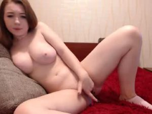 Busty Redhead Teen Girl Milana Fingers Her Cunt On Porn Cam