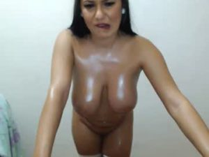 Big Tits Latina Slut Eva Naked On The Porn Show
