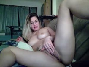 Spunky Girl Karen Plays With Her Bald Pussy