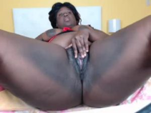 Fat Ebony Lady Abbey Masturbates Her Meaty Pussy