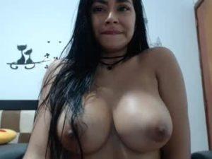 Young Latina Lady Dina With Sexy Huge Boobs