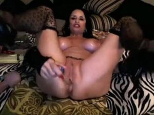 Nasty Granny Stuffs Her Both Holes With Different Toys On Live Webcam