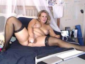 Slutty Milf Lacey Fucks Herself With A Toy