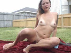 Perverted Milf Nelle Goes Fully Naked Outdoors