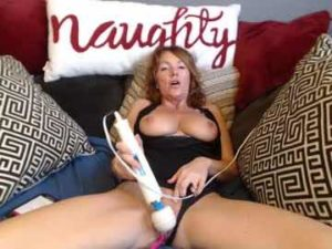 Redhead Mature Lady Julianna Uses A Huge Vibrator To Pleasure Herself