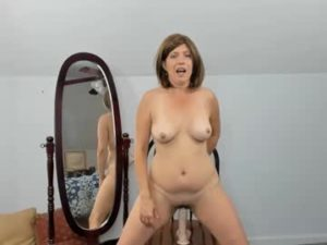 Depraved Wife Shows Off Her Dildo Riding Skills
