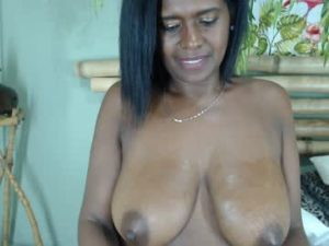 Mature Black Lady Alejandra With Big Saggy Boobs
