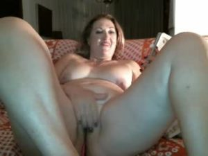Thick Wife Strokes Her Shaved Pussy On Webcam