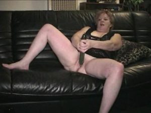 Sassy Granny Stuffs Her Pussy With A Massive Cucumber