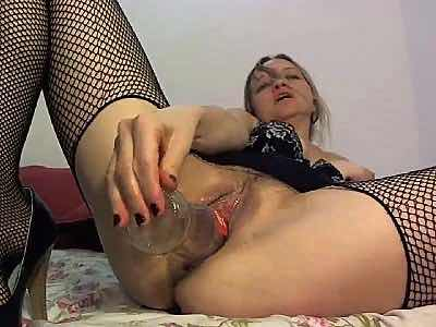 Nasty Slut Fucks Herself With A Coke Bottle