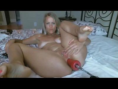 Pawg Bitch Anal Fucked By Dildo Machine